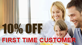 10% discount for first time customers